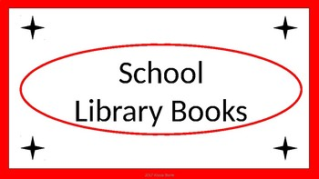 School Library Books Crate Label - Red & White