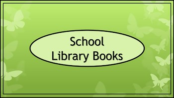 School Library Books Crate Label - Wide - Butterfly Theme