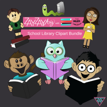 School Library Clipart Bundle