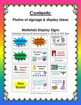 Elementary School Library Displays & Signs BUNDLE (Shelf Signage)