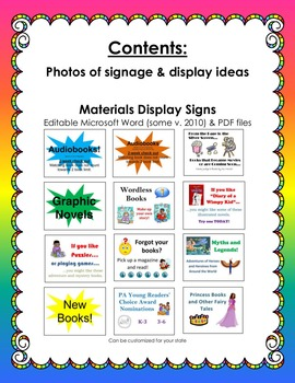 Elementary School Library Displays & Signs BUNDLE (Shelf Signage)