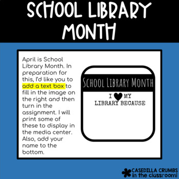 School Library Month I Heart My Library