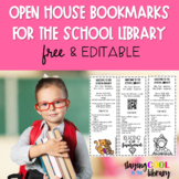 School Library Open House Bookmarks {FREE}