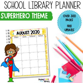 School Library Planner - Superhero Theme