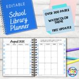 School Library Planner - Watercolor