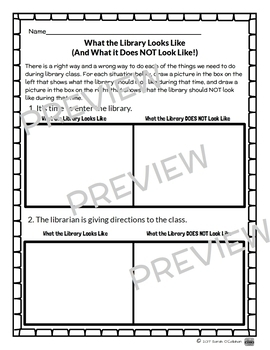 School Library Printable Resources for Back to School