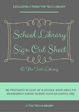 School Library Sign Out Sheet