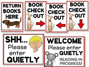 School Library Signs - Dewey Decimal Posters, Shelf Signs for the Media Center