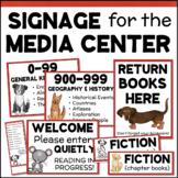 School Library Signage - Dewey Decimal Posters, Shelf Sign