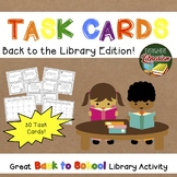 School Library Task Cards – 30 Card Set – Back to School -
