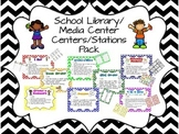 School Library/Media Center Centers/Stations Pack
