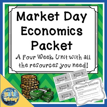 School License Market Day Economics Packet with Templates Journal and More