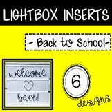 Back to School Lightbox Inserts
