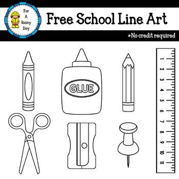 School Line Art Freebie