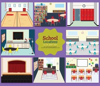 School Locations Clip Art Set by Christine O'Brien ...