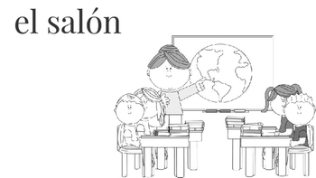 School Locations/Places Coloring Book