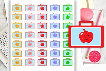 School Lunch Box Planner Stickers-School Bag Planner Stickers
