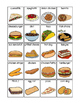 School Lunch Choices for Lunch Count and Food Pictures