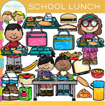 School Lunch Clip Art By Whimsy Clips Teachers Pay Teachers