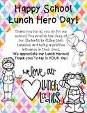 School Lunch Hero Day Appreciation Note