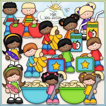 School Lunch Kids Clip Art - School Lunch Clip Art - CU Clip Art & B&W