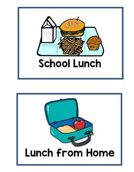 School Lunch Signs