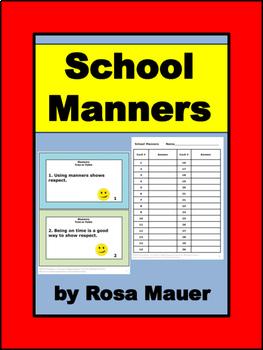 Manners School Behavior Review Activity