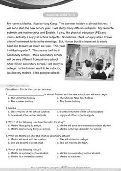 School - Martha's School Subjects - Grade 6