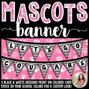 School Mascot Banner {Let's Go Cougars!}