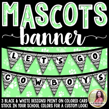 School Mascot Banner {Let's Go Cowboys!}