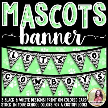 School Mascot Banner {Let's Go Cowboys!}