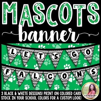 School Mascot Banner {Let's Go Falcons!}