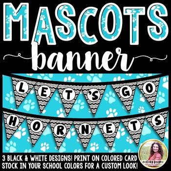 School Mascot Banner {Let's Go Hornets!}