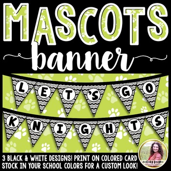 School Mascot Banner {Let's Go Knights!}