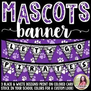 School Mascot Banner {Let's Go Pirates!}