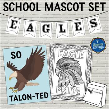 School Mascot Eagles Set