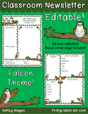 School Mascot - Falcons - Editable Newsletter Template