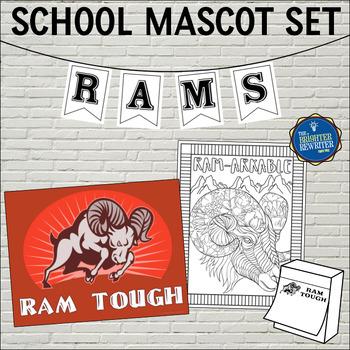 School Mascot Rams Set