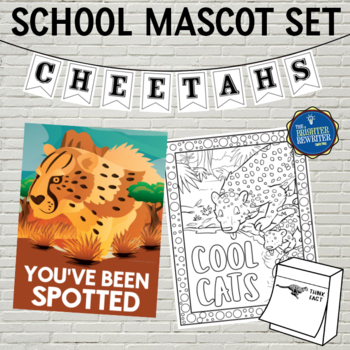 School Mascot Cheetahs Set