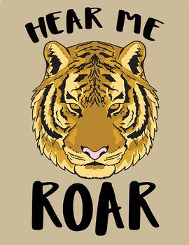 School Mascot Tigers Set