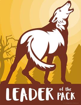 School Mascot Wolves Set