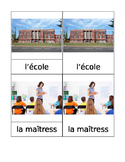 School Matching Cards French Montessori