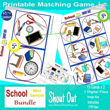 School Matching Game Shout Out Mini Game