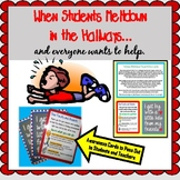 School Meltdowns Awareness Cards for Faculty and Students