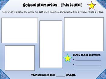 School Memories Book - End of School Year Keepsake - Variety of Themes