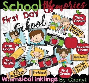 School Memories Clipart Collection