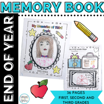 End of Year Memory Book for Grades 1-3 Ready to Print&Use