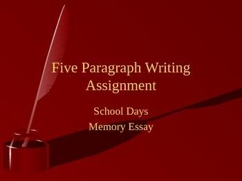 School Memories Essay Prompt