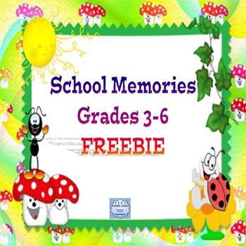 School Memories Grades 3-6  FREEBIE