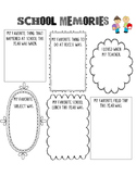 School Memories- end of the year activity sheet